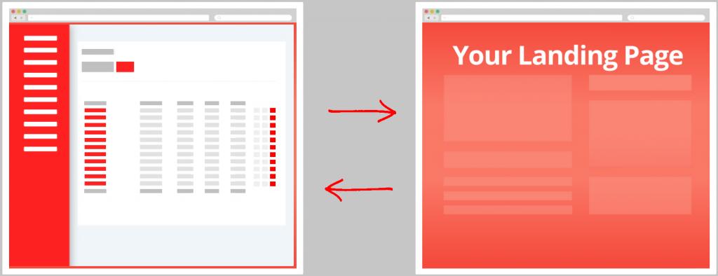 UpRival Landing Page Hosting
